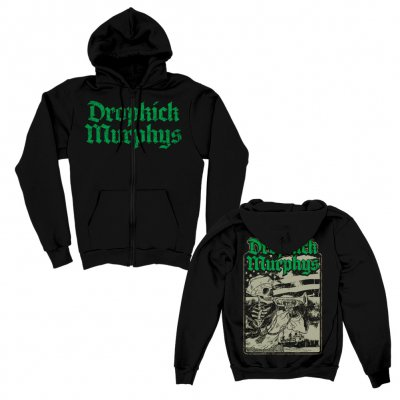 dropkick-murphys - Trumpeter Zip Up Hoodie (Black)