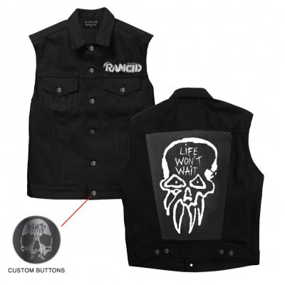 rancid - LWW Custom Denim Vest (Black)