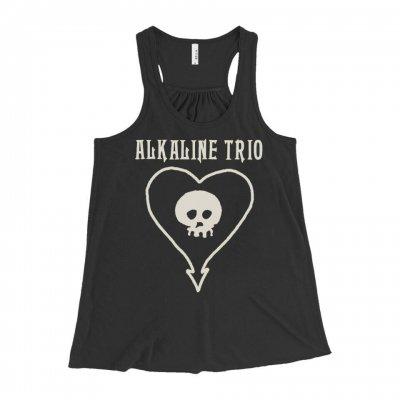 alkaline-trio - Classic Heartskull Women's Racerback Tank (Black)