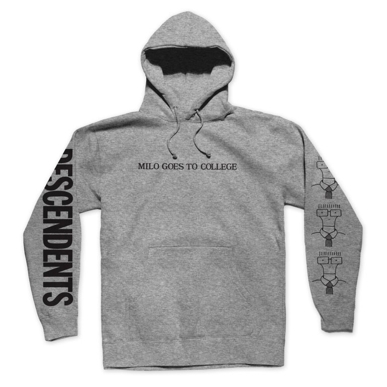 Milo Goes to College Pullover Hood (Heather Grey)
