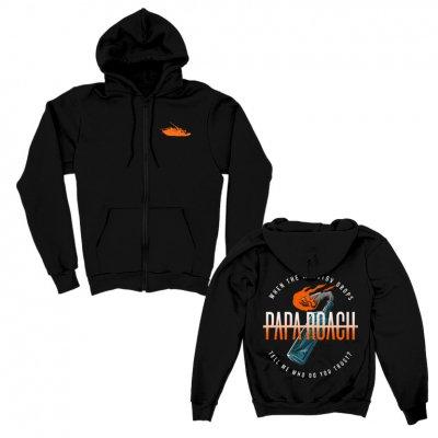 papa-roach - Molotov Zip-Up Hoodie (Black)