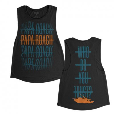 papa-roach - Warped Repeater Women's Tank (Black)