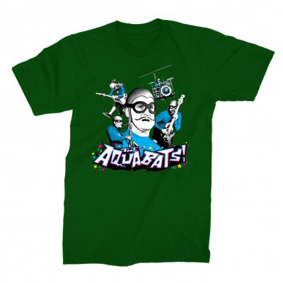 the-aquabats - Collage Tee (Green)