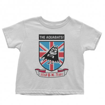 the-aquabats - Crest UK Youth Tee (White)
