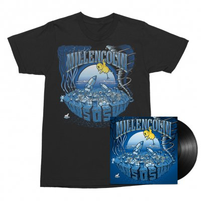 Millencolin - SOS LP (Black) + Tee (Black) Bundle