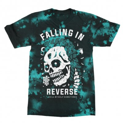falling-in-reverse - Killing Myself Tee (Blue/Black Tie Dye)