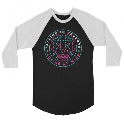 falling-in-reverse - Losing My Mind Raglan (Black/White)