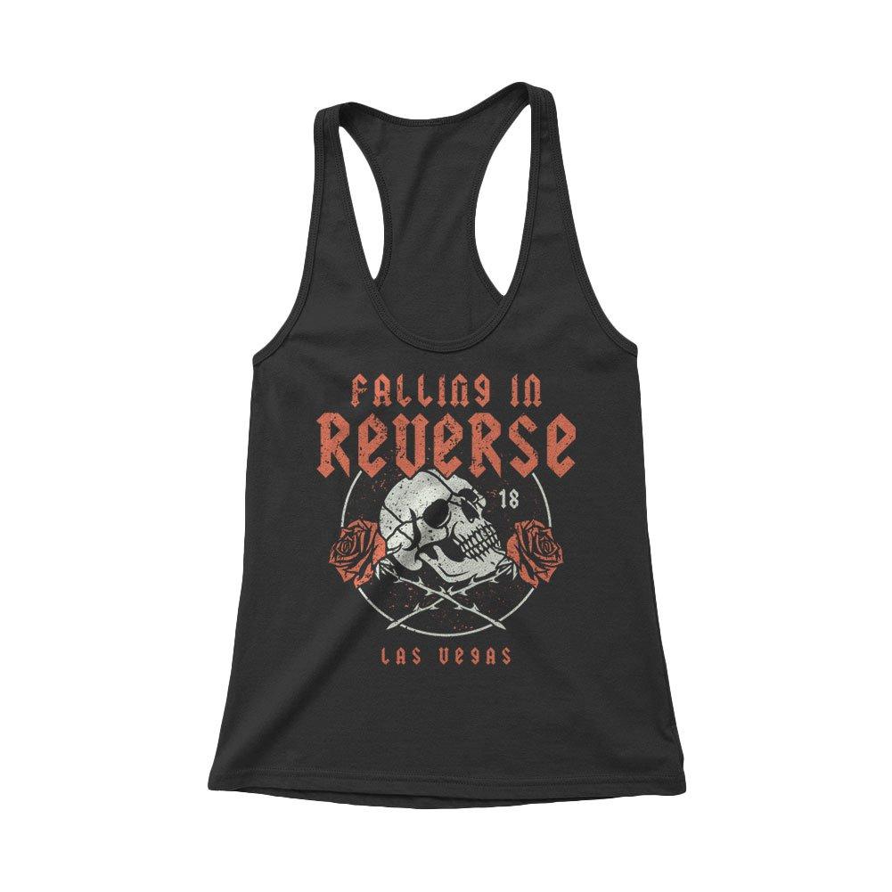 IMAGE | Rose Skull Women's Tank (Black)