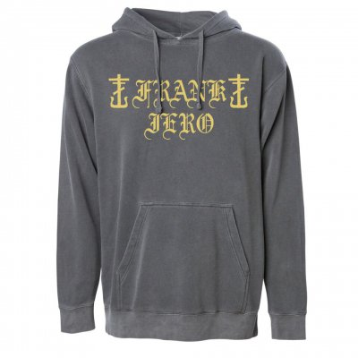 frank-iero - Old English Pullover (Faded Black)