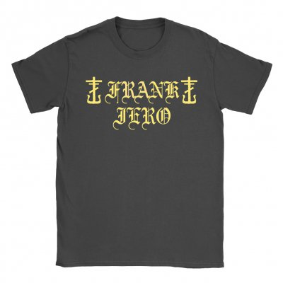 frank-iero - Old English Tee (Faded Black)