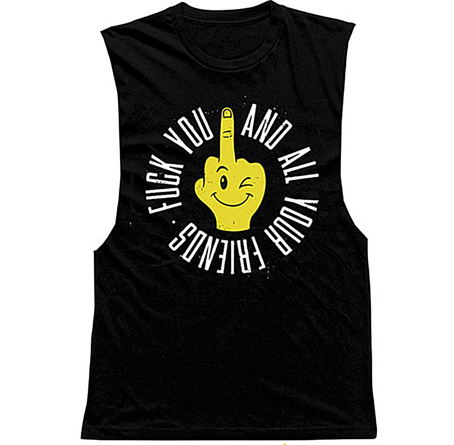 IMAGE | Fuck You And All Your Friends Tank (Black)