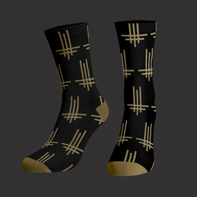 Triumviratus Pattern Socks (Black)
