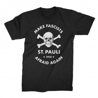 fc-st-pauli - Make Fascists Afraid Tee (Black)