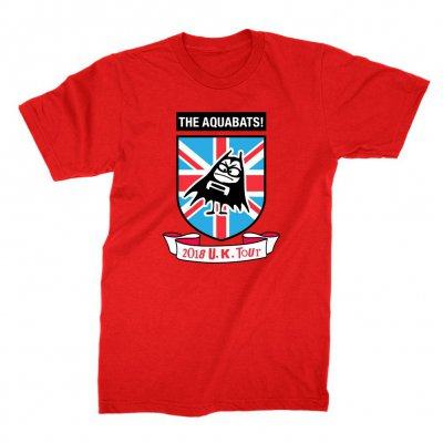 the-aquabats - Crest UK Tee (Red)