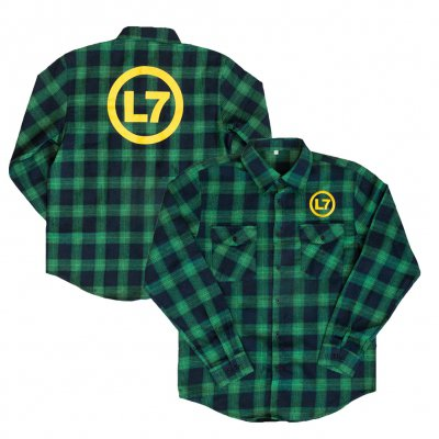 l7 - Logo Flannel Logo Flannel (Green)