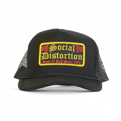 Rock N Roll Patch Trucker Hat (Black)