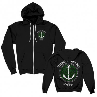 dropkick-murphys - Celtic Knot Anchor Zip-Up Hoodie (Black)
