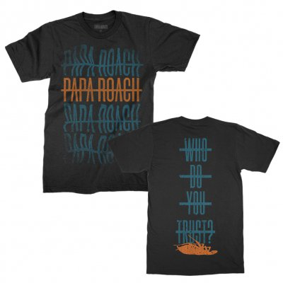 papa-roach - Warped Repeater Tee (Black)