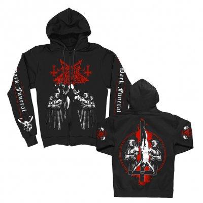 dark-funeral - Cloak Crosses Zip Up (Black)