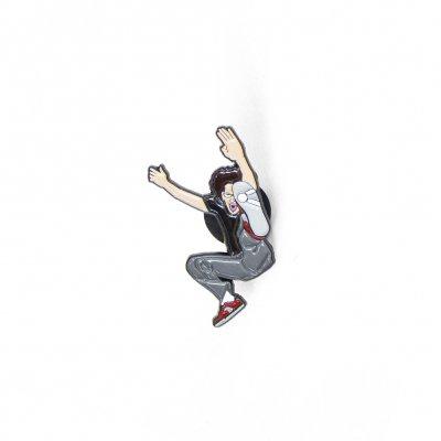 Jump Kick Enamel Pin