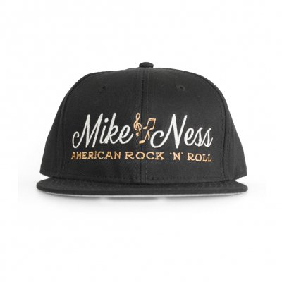 mike-ness - Cursive Logo Hat (Black)