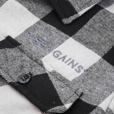 rise-against - Embroidered Logo Flannel (Plaid Grey)