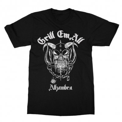 grill-em-all - Motor-Grill T-Shirt (Black)