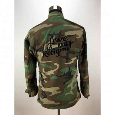 18bc5f7e9e73b Custom Embroidered Army Jacket (Camo)   Ziggy marley merch