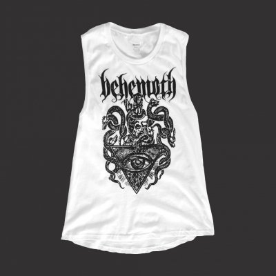 Death Crest Women's Muscle Tank Top (White)