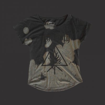 New Sigil Women's Bleach Scoop Neck Tee (Black)