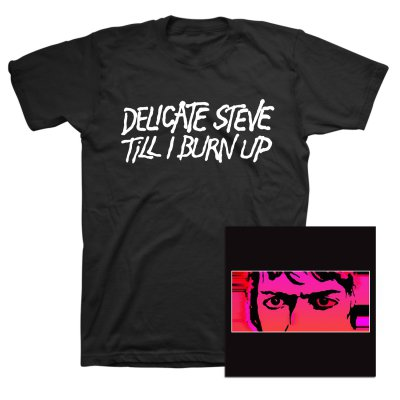 Delicate Steve - Till I Burn Up CD + Tee (Color) Bundle
