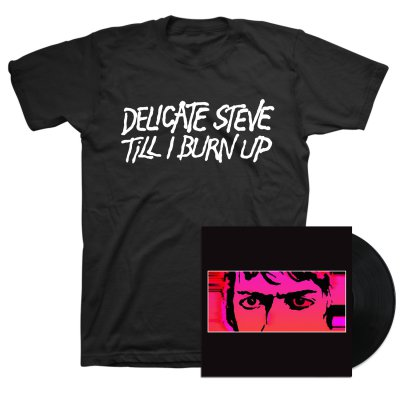 Delicate Steve - Till I Burn Up LP (Black) + Tee (Color) Bundle