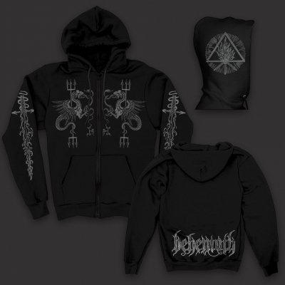 Serpent Zip Up Sweatshirt Black Behemoth Merch