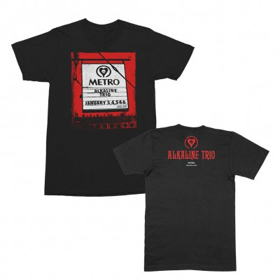 alkaline-trio - 2019 Metro Sign Tee (Black)