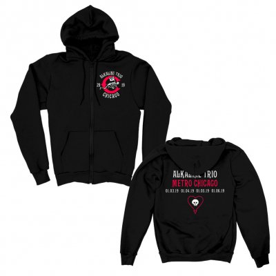 alkaline-trio - Crawler Metro Zip Up Hoodie (Black)