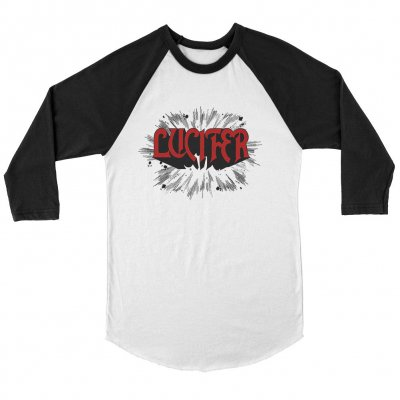 lucifer - Rush Raglan (White/Black)