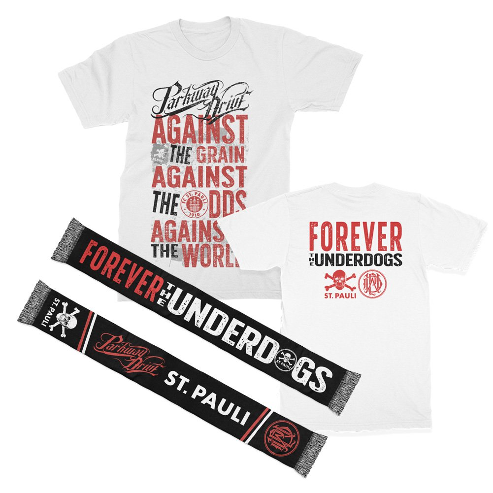 IMAGE | FCSP x Parkway Drive Collab Tee (White) + Scarf Bundle
