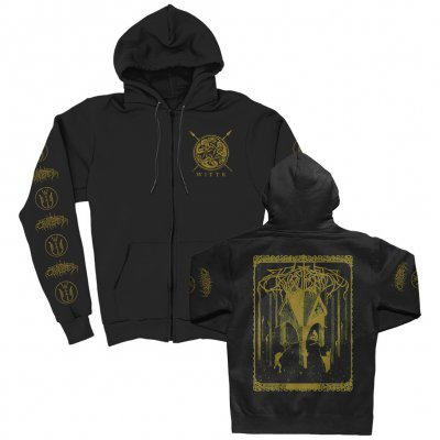 Wolves In The Throne Room - Thrice Woven Zip-up Hoodie (Black)