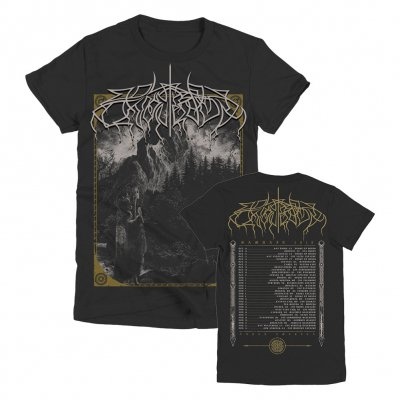 Wolves In The Throne Room - Woodcut Women's Tour T-Shirt (Black)