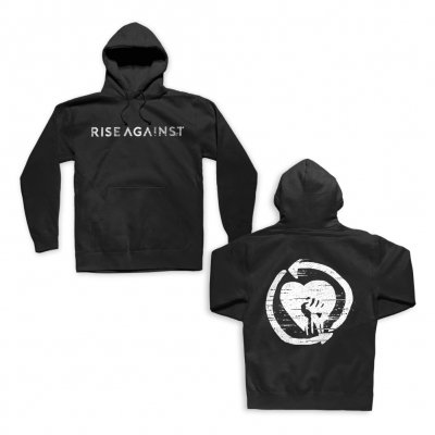 rise-against - Static Logo Heartfist Pullover (Black)
