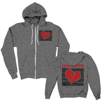 the-interrupters - Broken Heart Zip Up (Dark Grey Heather)