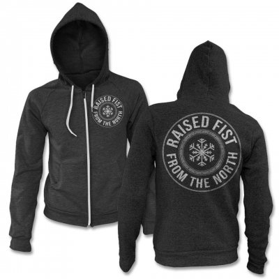raised-fist - From The North Zip Up Sweatshirt (Heather)