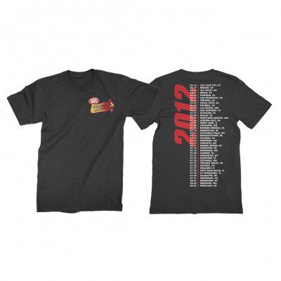 vans-warped-tour - Retrospective 2012 T-Shirt (Black)