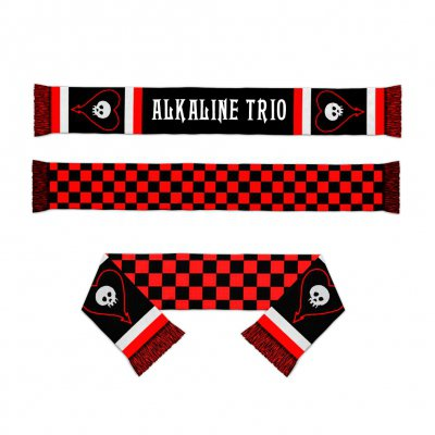 alkaline-trio - Heartskull Checker Scarf