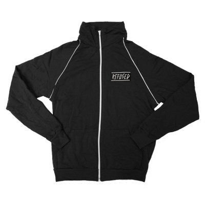 Refused - Embroidered Old Logo Track Jacket (Black)