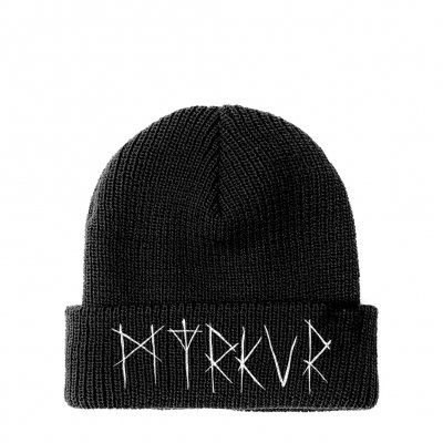 valhalla - Embroidered Logo Beanie (Black)