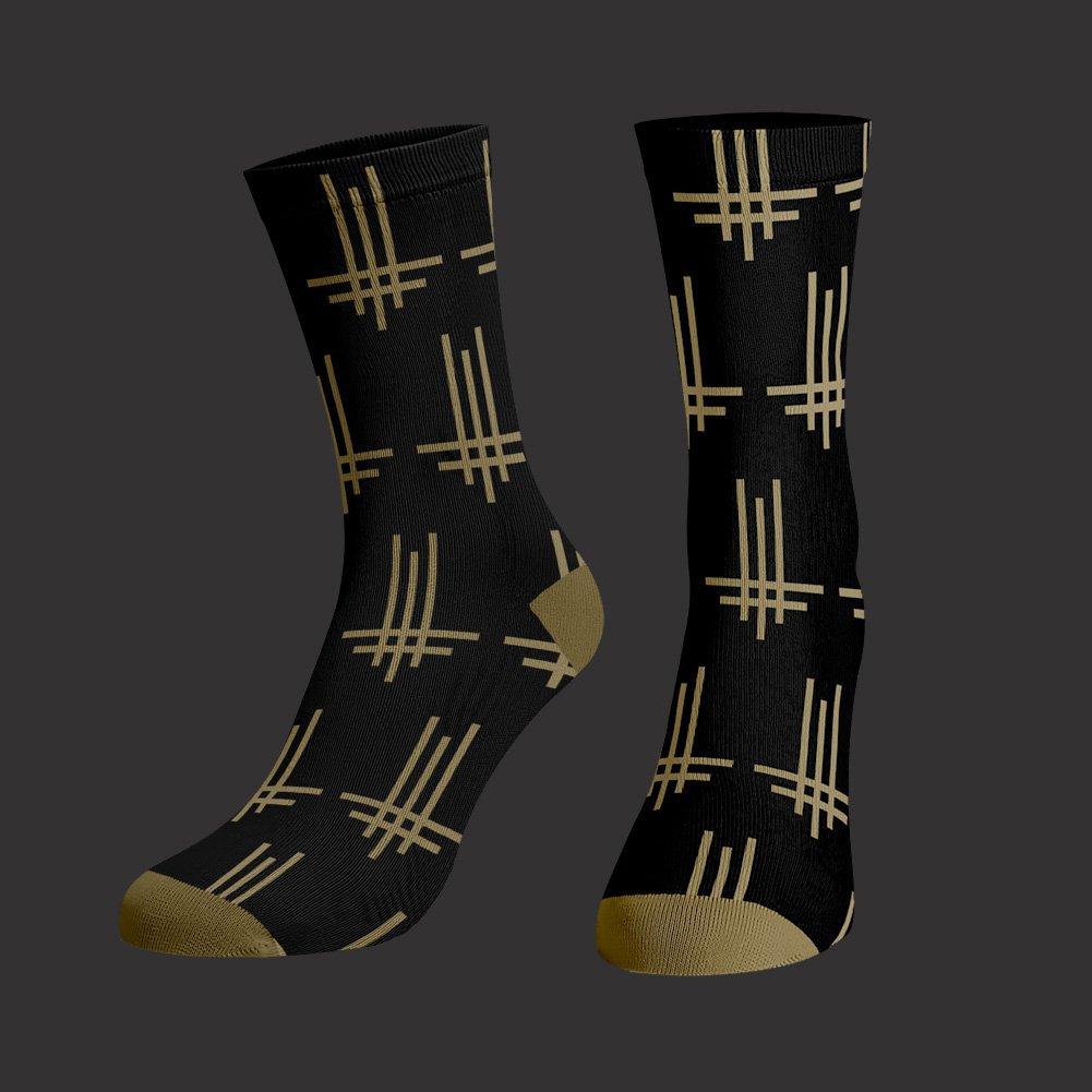 IMAGE | Triumviratus Pattern Socks (Black)