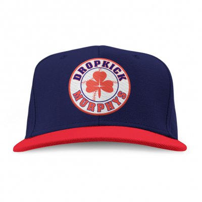 Shamrock Patch Snapback (Navy/Red)