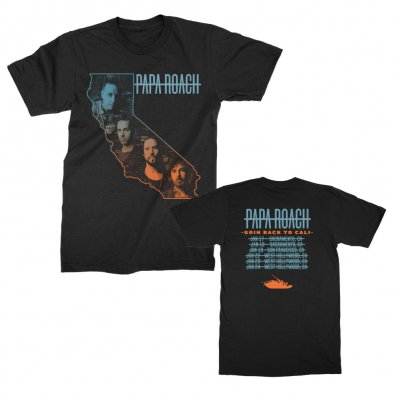 papa-roach - Goin Back to Cali 2019 Tour Tee (Black)