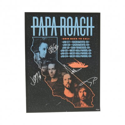 papa-roach - Goin Back to Cali 2019 Tour Poster (Signed)